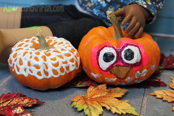Lace and Owl Pumpkin