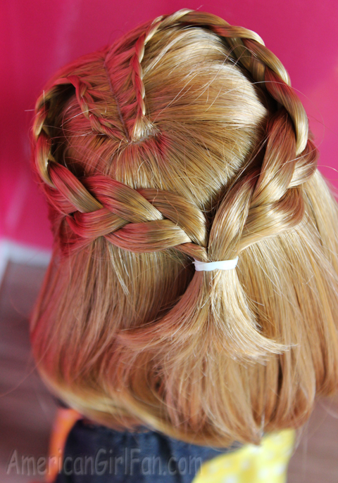 Doll Hairstyle Braided Heart For Short Hair AmericanGirlFan - Hairstyles for dolls with long hair