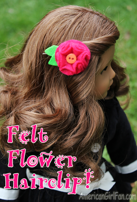 Felt Flower Doll Hairclip