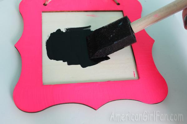 Paint chalkboard paint