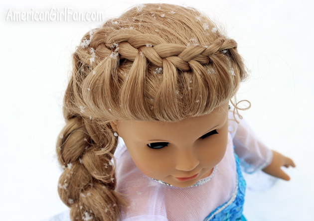 Stupendous Doll Hairstyle Frozen Inspired Elsa Braid Americangirlfan Hairstyle Inspiration Daily Dogsangcom
