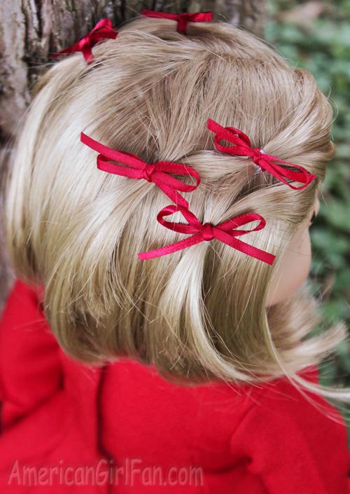 Doll Hairstyle: Bitty Bow Ponytail Veil! (AmericanGirlFan)