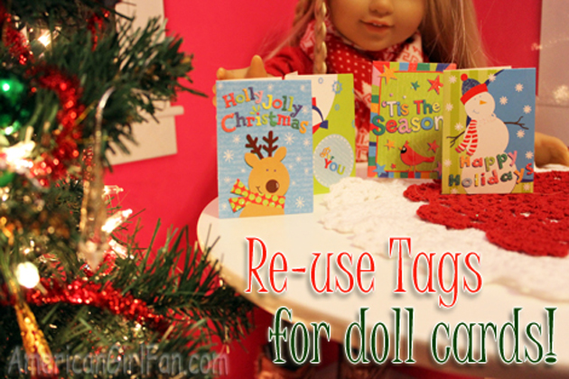 reuse cards - Christmas Decorations For American Girl Dolls
