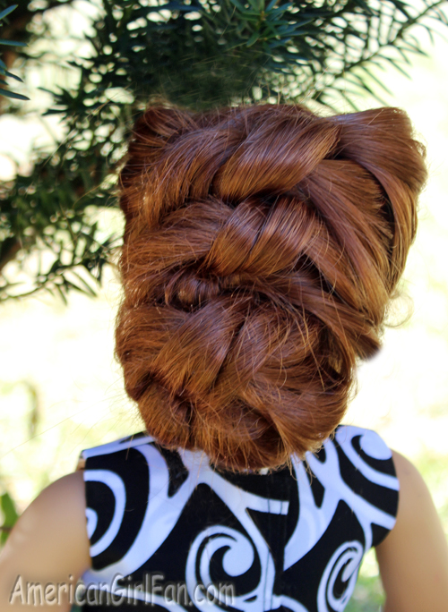 Doll Hairstyle Easy Knotted Bun Americangirlfan