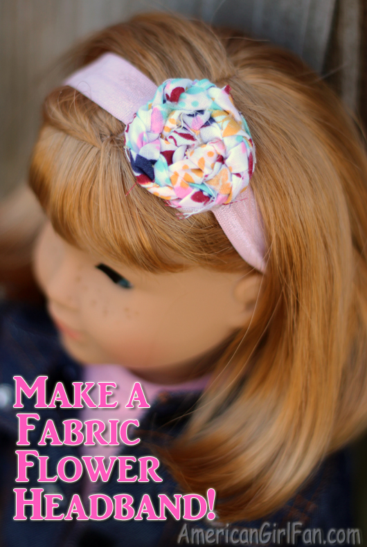 American Girl Doll Fabric Flower Headband