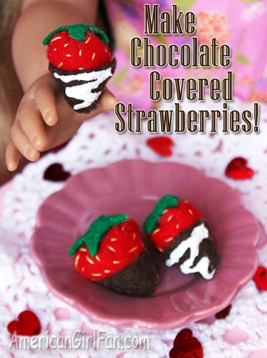 Make Chocolate Covered Doll Strawberries Craft