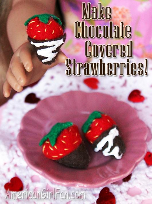 Make Chocolate Covered Doll Strawberries Craft