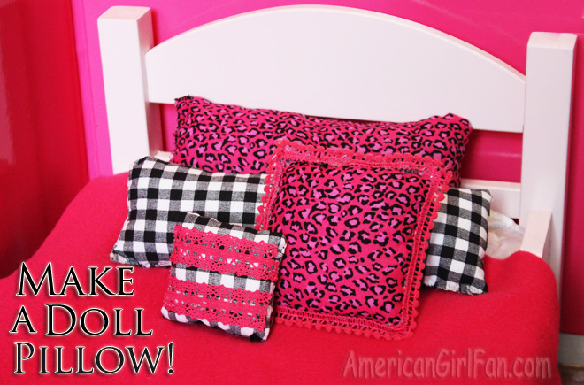 Doll Room Craft Make A Decorative Throw Pillow AmericanGirlFan