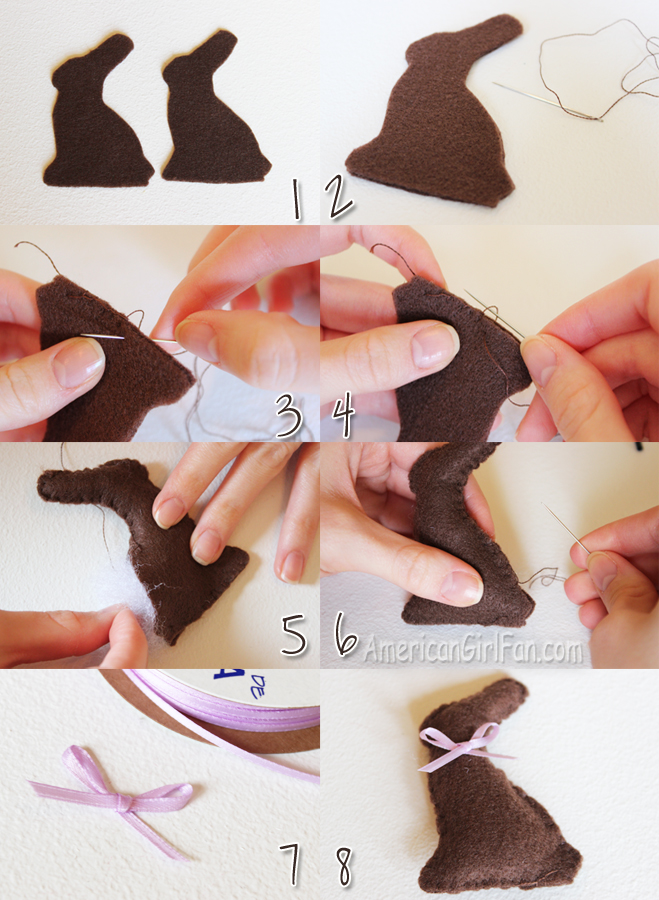 Steps for Doll Chocolate Bunny