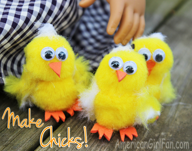 Make American Girl Doll Chicks Craft