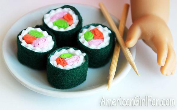 Doll Food Craft How To Make Sushi Americangirlfan