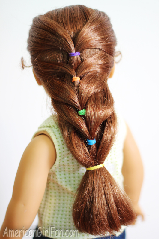 long hair tied up styles doll hairstyle rainbow ponytail americangirlfan 8802 | 6a00e54efed408883401b7c786adba970b 800wi