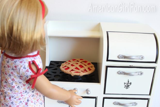 Pie on rack