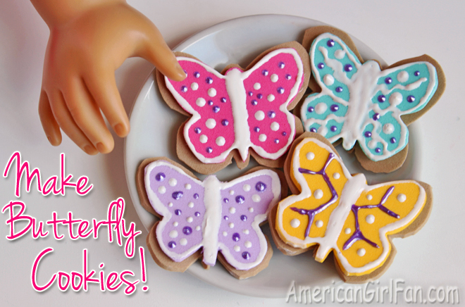 How To Make Butterfly Cookies For American Girl Dolls