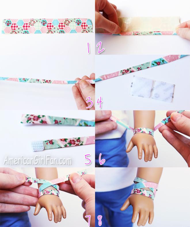 Steps To Make Doll Bracelet