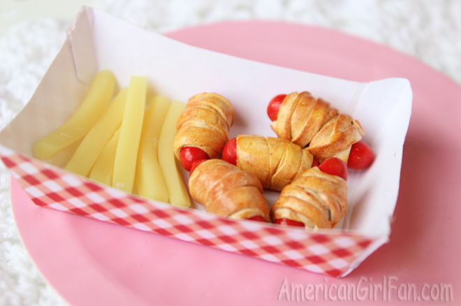 American Girl Doll Mini Corndogs and Fries