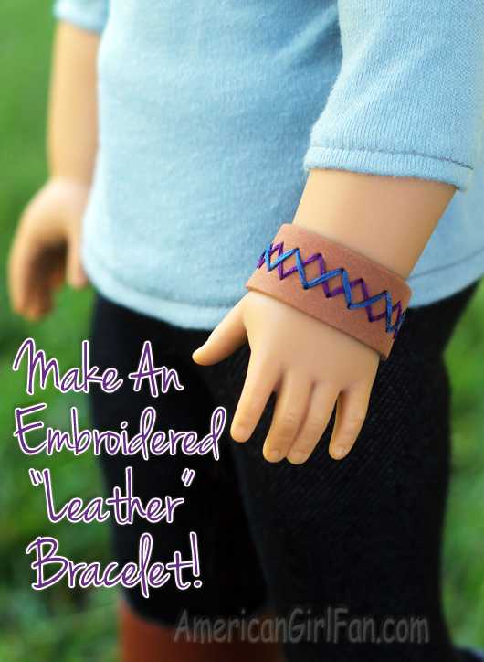 How To Make A Doll Leather Bracelet