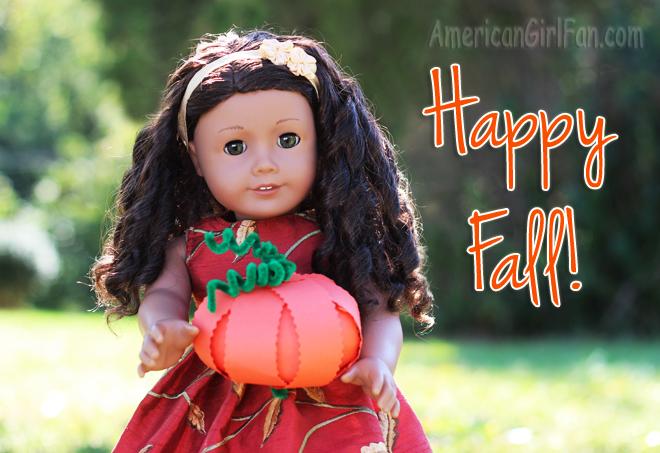 Pumpkin Paper Doll Craft (via AmericanGirlFan.com click through for tutorial)
