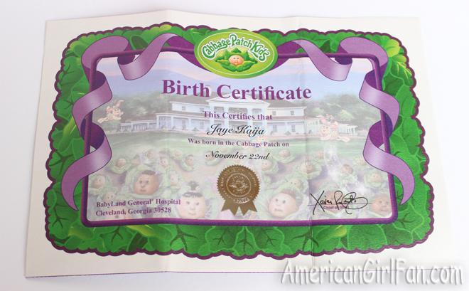 Americangirlfan about me my cabbage patch kids name is jaye kaya yadclub Choice Image