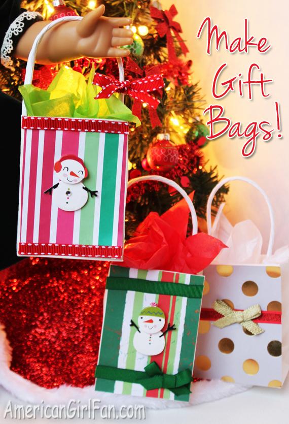 How To Make An American Girl Doll Christmas Gift Bag