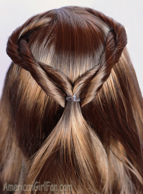 Doll Hairstyle: Lea's Double Twist Half-Ponytail Featured Style ...