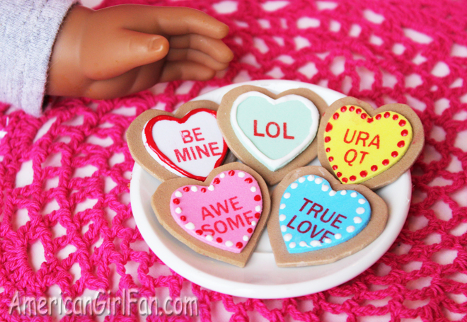 American Girl Doll Valentine's Day Cookies