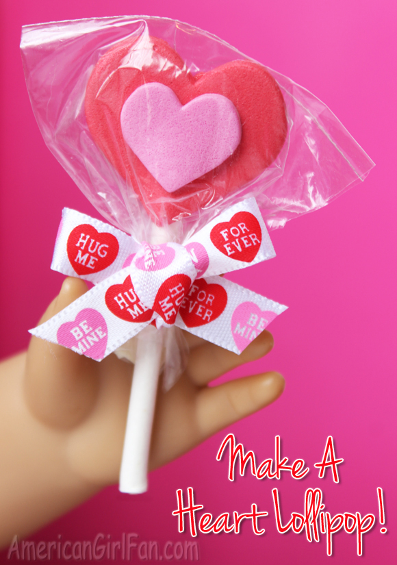 Make a Heart Lollipop
