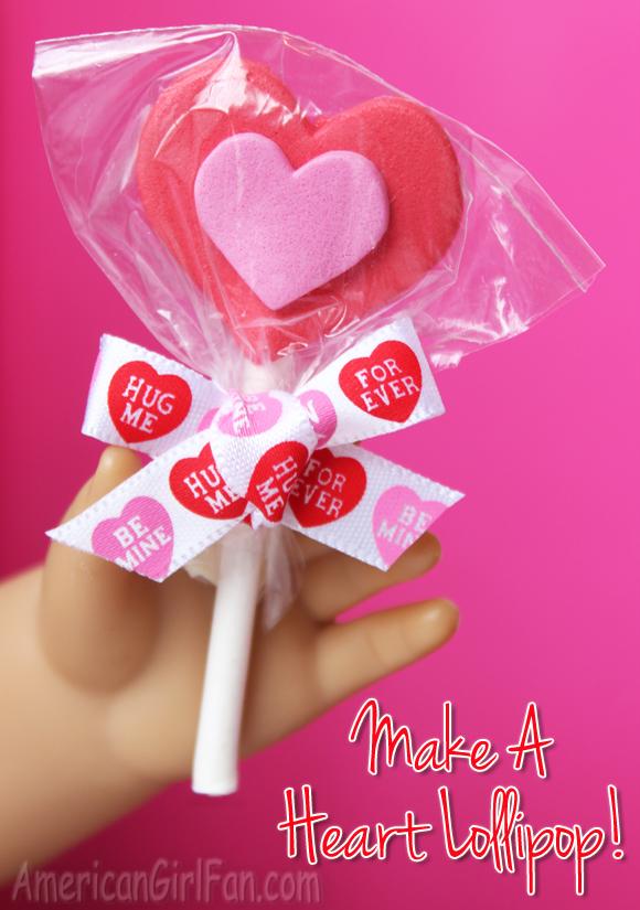 Make a Heart Lollipop