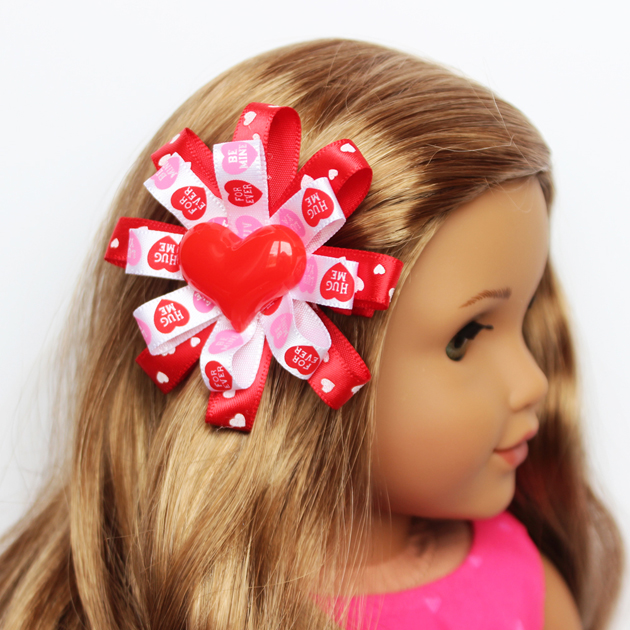 American Girl Doll Valentine's Day Hair Bow