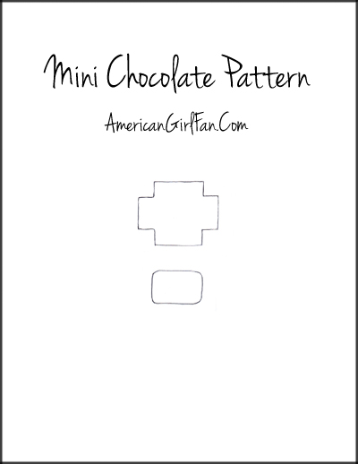 American Girl Doll Chocolates Pattern
