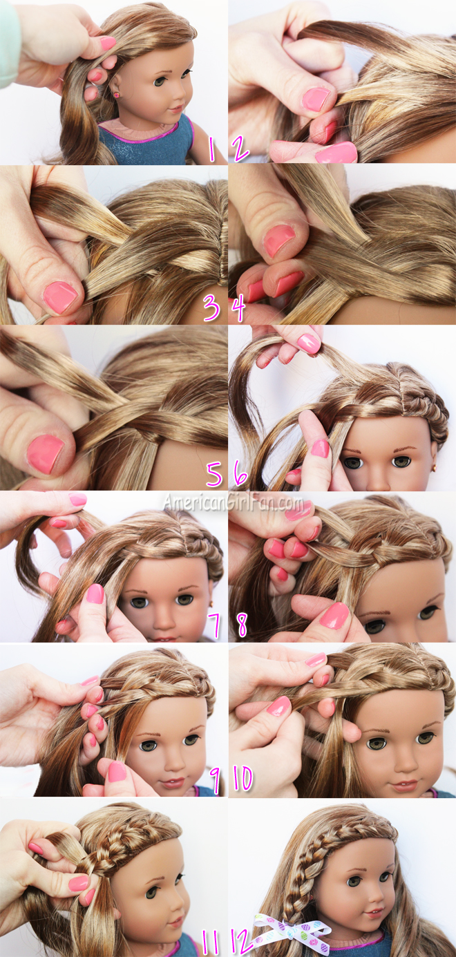 braided doll hairstyle for easter! (americangirlfan)