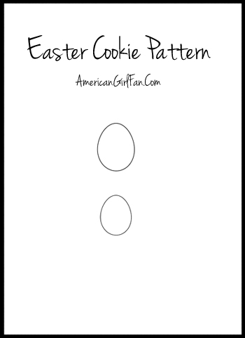 Easter Egg Cookie Pattern