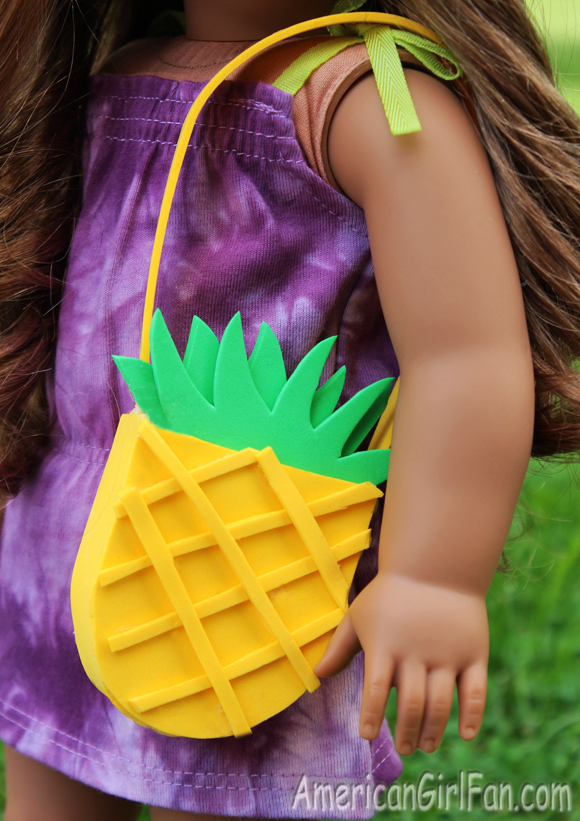doll craft how to make a pineapple purse with free pattern
