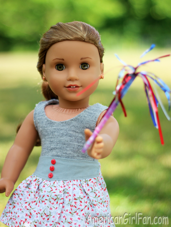 American Girl Doll 4th of July Hairstyle