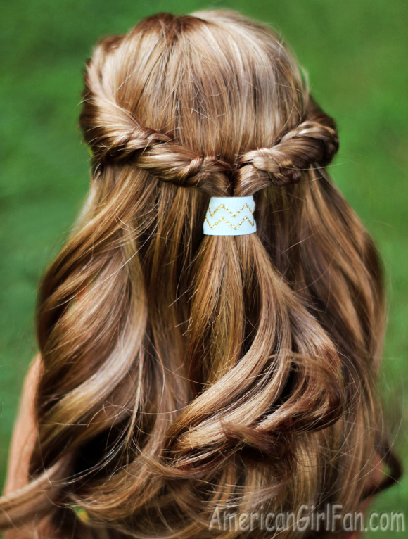 American Girl Doll Hairstyle Half Up Twist With Braids