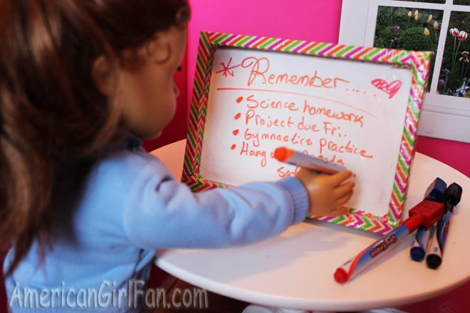 American Girl Doll Dry Erase Board