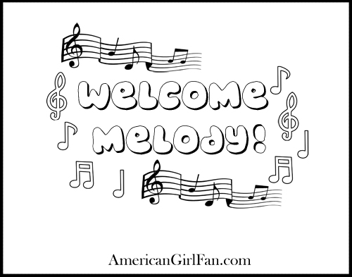 Melody Coloring Page 2