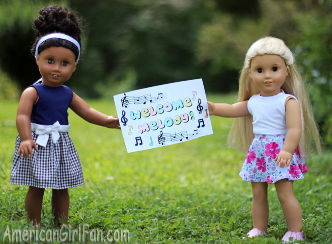 American Girl Doll Melody Coloring Page Free Printable