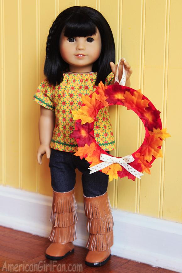 American Girl Doll Craft Fall Wreath