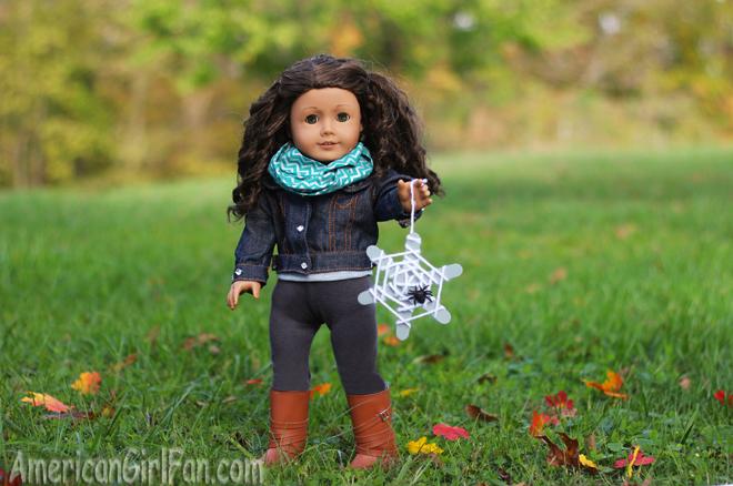 American Girl Doll Craft Halloween Spiderweb