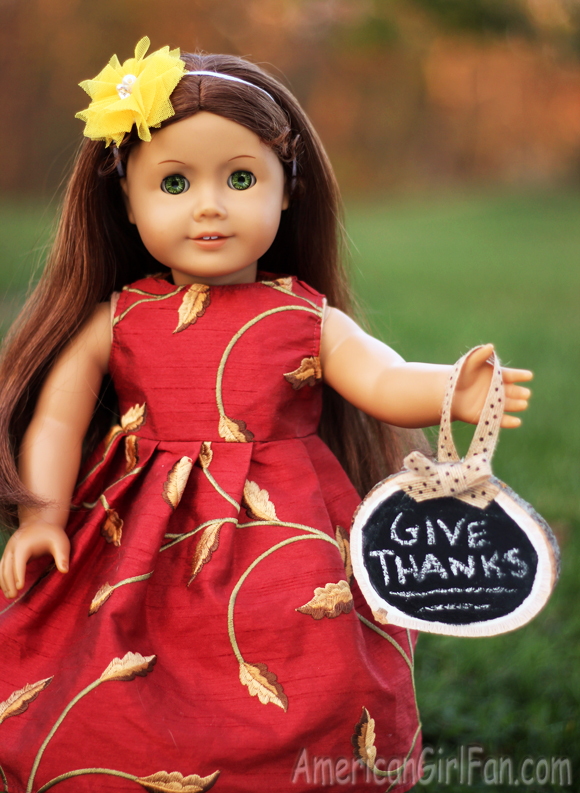 American Girl Doll Craft Wooden Chalkboard Sign