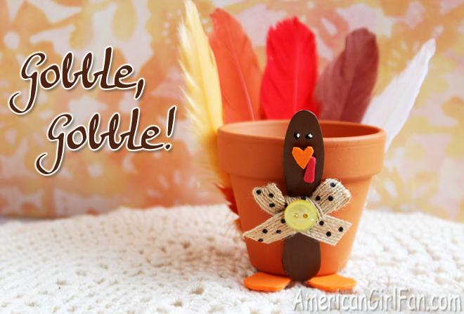 American Girl Doll Craft Thanksgiving Turkey Centerpiece