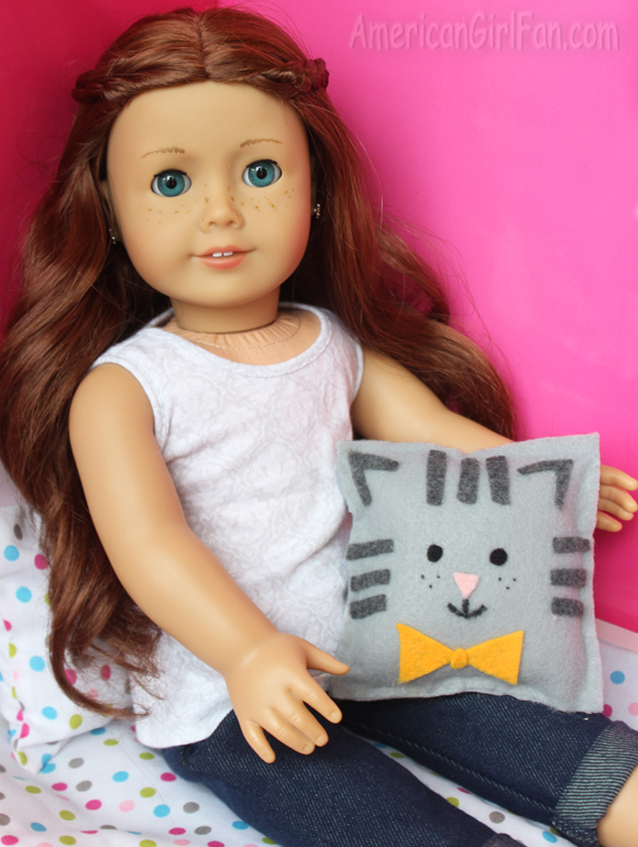 American Girl Doll Craft Cat Pillow