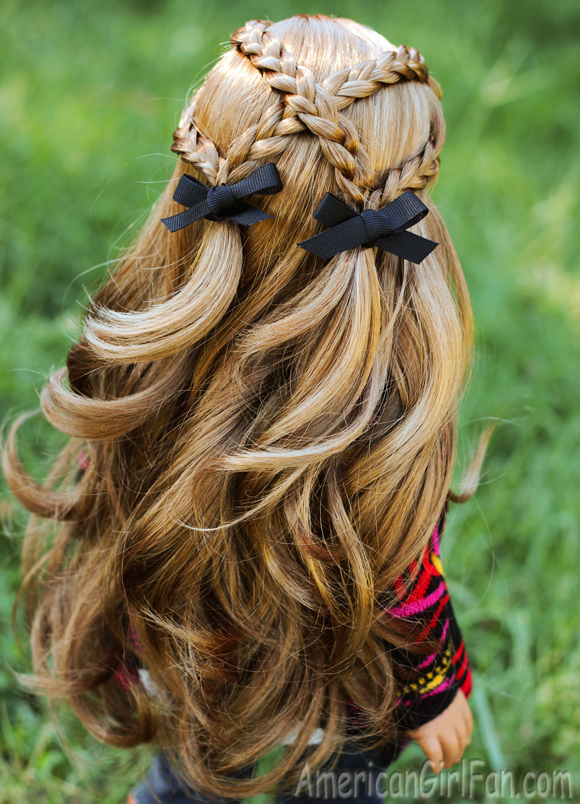 American Girl Doll Hairstyle Criss Cross Braid Pigtails