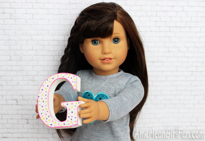 American Girl Doll Craft Paint A Wooden Monogram Letter