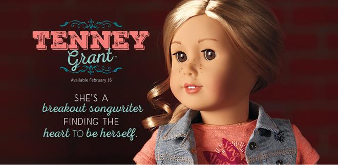 2017  Mini Doll Collection American Girl Tenney Grant Mini Doll /& Book