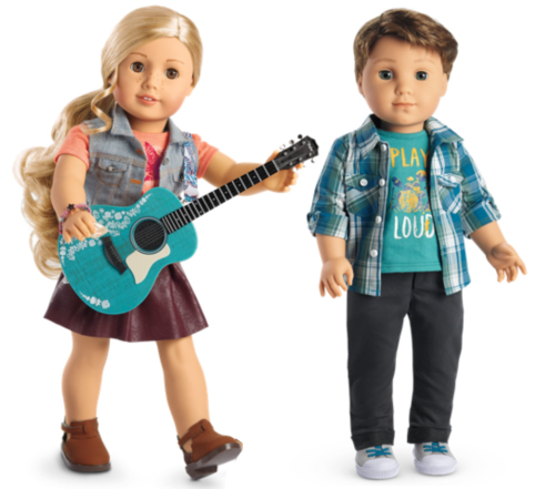American Girl Doll Tenney Grant and Logan Everett