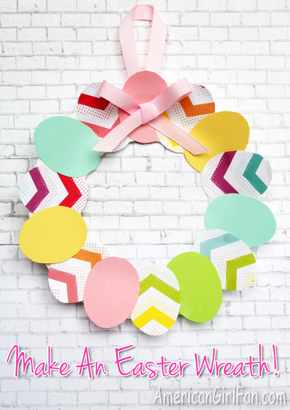 American Girl Doll Craft Easter Wreath