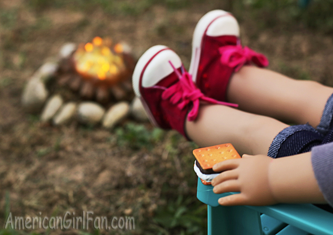 American Girl Doll Camping