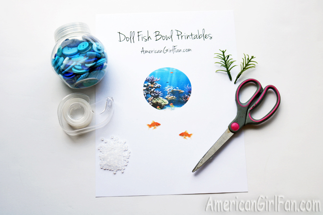 American Girl Doll Fish Bowl Craft